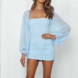 hello molly blue NWT tangy bellini dress